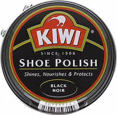 Every Saturday night, we'd polish his church shoes with Kiwi Shoe Polish from the can.