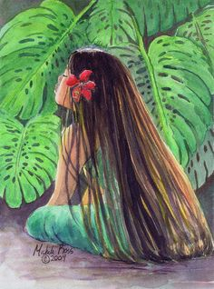 Choose your favorite hawaii paintings from millions of available designs. All hawaii paintings ship within 48 hours and include a money-back guarantee. Hawaiian Girls, Hawaiian Homes, Hawaiian Art, Hawaiian Tattoo, Hawaiian Flowers, Hawaiian Quilts, Polynesian Art, Polynesian Culture, Polynesian Designs