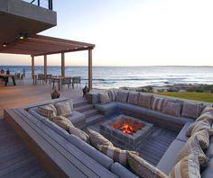 meubles pour lextrieur mini foyer une belle vue relaxante outdoor furniture fire pit beautiful peaceful view
