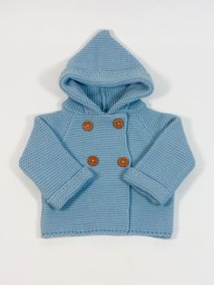 classic baby clothes. chaqueton invierno punto bobo barato bebe niño azul lucero