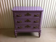Painted furniture-this color would be adorable for Kylee's room!