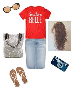 """Southern Belle"" by brendansara1018 on Polyvore featuring Current/Elliott, Kate Spade, Billabong and BlissfulCASE"