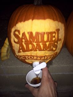 My friend went to a party, this was filled with Sam Adams pumpkin ale. - Imgur
