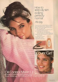 Cover Girl cosmetics ad from 1986