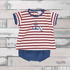 Tejido en punto liso, perfecto para vestir a tu bebé en primavera-verano. Rapife made in Spain. Spain, Tops, Women, Fashion, Two Pieces, Spring Summer, Tejido, Bebe, Moda