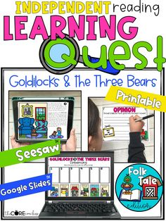Students watch an introductory folktale video, listen to or read the story, complete comprehension activities, write story responses, and submit answers to a quiz. This resource is compatible with Google Slides, SeeSaw and is printable. Just click on the included links and assign to students or provide as a printable packet.