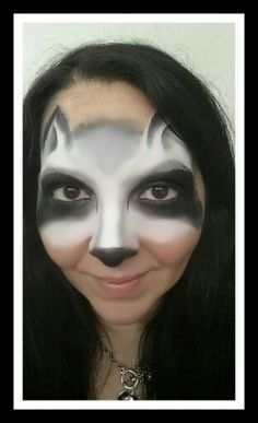 cute racoon face paint - Google Search