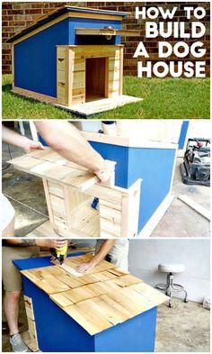 How To Build A Dog House Tutorial - 45 Easy DIY Dog House Plans & Ideas You Should Build This Season