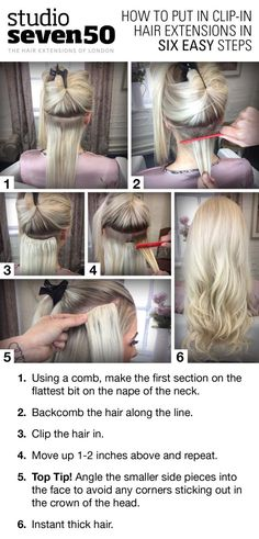 How to apply clip-in hair extensions in six easy steps