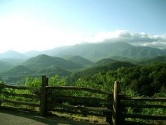 Smoky Mountains Tennessee (ofc I immediately thought of LOTR..)
