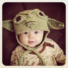 Made to Order Crochet Yoda EarFlap Hat. $20.00, via Etsy.