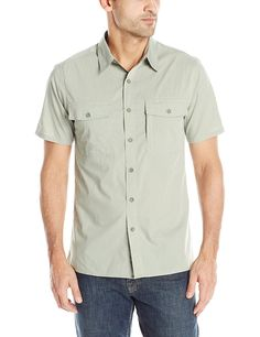 Royal Robbins Men's Vista Short Sleeve ** New and awesome outdoor gear awaits you, Read it now : Camping supplies Hiking Clothes, Camping Supplies, Outdoor Gear, Men Casual, Sleeve, Awesome, Check, Mens Tops, Stuff To Buy