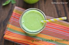 Limeade Green Smoothie | Bake Your Day
