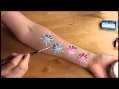 ▶ Snowflakes - Face Painting Tutorial - YouTube Girl Face Painting, Face Painting Tips, Face Painting Tutorials, Face Painting Designs, Painting For Kids, Body Painting, Face Paintings, Frozen Face Paint, Christmas Face Painting
