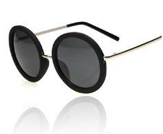 Women Men Vtg Retro White/Black/Leopard Circle Round Frame Sunnies Sunglasses | eBay