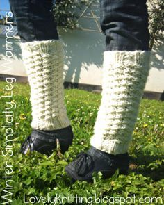 Knitting Girl's Lovely Knitting: Winter Simplicity Leg Warmers