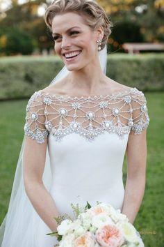 Al Fresco Austin Wedding Marchesa Wedding Dress, Marchesa Bridal, Marchesa Gowns, Gorgeous Wedding Dress, Beautiful Bride, Used Wedding Dresses, Wedding Gowns, Wedding Jacket, Crepe Dress