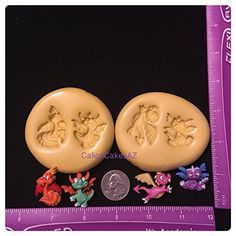 Dragon Theme Fondant Mold Set Gumpaste. Dragon Theme Mold Set. They are SOOO cute! Best for fondant and gumpaste. Lots of detail, and chocolate would probably not get the detail in these little cuties! • Handmade item • Material: Silicone mold • Made to order ALL molds are FOOD SAFE! Non Toxic Complies with FDA 21 CFR 177 2600 Food Use for Molds: Fondant, gumpaste, candy, chocolate, candy melts, ice, gelatin, isomalt. All molds are made by me when you order. I make my molds thick, so they...