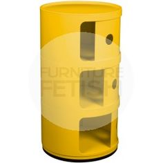 Replica Anna Castelli Ferreiri Componibili Storage Unit - Three (3) Tier Yellow  $85