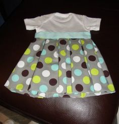 DIY Baby Girl Onesie Dress. Going to make this for Claire