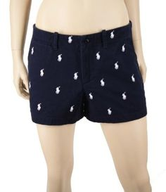 Polo Ralph Lauren Women s Navy Blue Shorts With Many White Ponies --- http  0d3fe8913