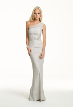 Red carpet style — silver one shoulder dress