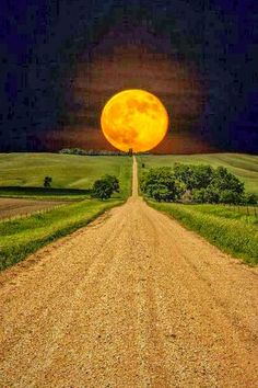 Moonrise over a road in South Dakota, USA? Moon is way to big and the scenery doesn't look like South Dakota from web photos I researched. Usa Pictures, Pretty Pictures, Cool Photos, Beautiful Moon, Beautiful World, Beautiful Places, Beautiful Roads, Picture Store, Shoot The Moon