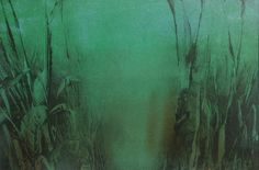 """Still several 4 x 6"""" monotypes left including this one in winter Green. Stocking filler."""