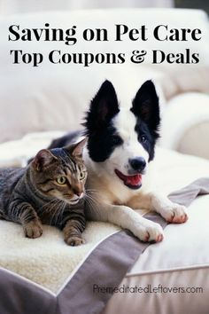 Saving Money on Pet Care - Pet Food Coupons, Deals, and Freebies. Includes dog food coupons, cat food coupons, and pet supply coupons and online codes.