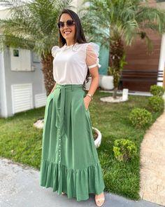 Cute Skirt Outfits, Cute Skirts, Modest Outfits, Cool Outfits, Casual Outfits, Looks Chic, Casual Looks, Boho Fashion, Fashion Looks