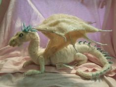 My first dragon needle felted for my son