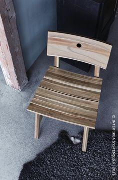 De l'arbre à la chaise. Chaise SKOGSTA #IKEA #SKOGSTA #cuisine #salleàmanger
