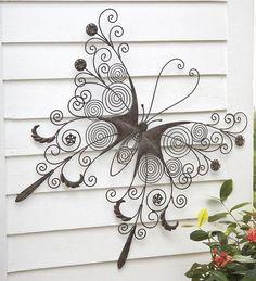 Large Metal Butterfly Wall Art: