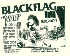 Black Flag flyer for a free show