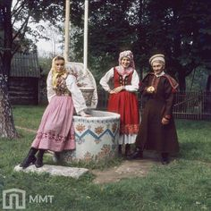 Village of Zalipie, region of Cracow East, southern Poland. Photography by Stanisław Gadomski, from the digitalized collection of the City Museum in Tychy. Folk Costume, Costumes, Polish Folk Art, City Museum, Krakow, Traditional Outfits, Photography, Folklore, Clothes
