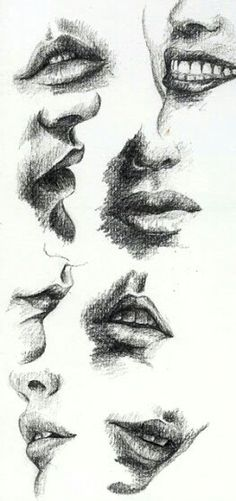 37 Lip Pencil Drawing Ideas - New Mouth Drawing, Life Drawing, Figure Drawing, Drawing Faces, Painting & Drawing, Pencil Art Drawings, Art Drawings Sketches, Desenho New School, Lips Sketch
