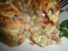 Crawfish and Andouille Sausage Pie _ A yummy old fashioned Louisiana bayou entree! Crawfish and Andouille Sausage Pie _ A yummy old fashioned Louisiana bayou entree! Crawfish Pie, Crawfish Recipes, Cajun Recipes, Seafood Recipes, Cooking Recipes, Crawfish Cornbread, Gumbo Recipes, Crawfish Etouffee, Seafood Appetizers
