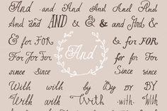 Hand lettered set of