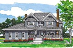 Houseplans.com Front Elevation Plan #47-426