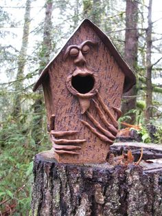 birdhouse with face