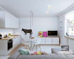 The first apartment comes from designers Vjacheslav Zhugin and Olga Ursulenko.