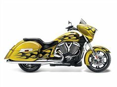 [#Victory 2014 Cross Country® Tequila Gold with #Flames #Motorcycles]  #Baggers #Mungenast #SaintLouis