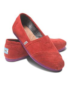 7ef9b29668a Take a look at this Red Pop Corduroy Classics - Women by TOMS on  zulily