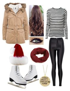 """""""ice skating with your friends"""" by arianahoxha ❤ liked on Polyvore featuring Quiz, Alisa Michelle, Naf Naf and Proenza Schouler"""