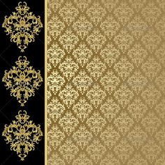 Golden background   #GraphicRiver         Black and golden background with…
