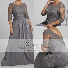 Plus Size Mother Of The Bride Dresses Half Sleeve Long Wedding Guest Garden Gown