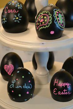 Chalkboard Easter Eggs  www.funflicks.com