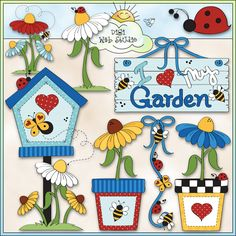 Love My Garden 1 - NE Trina Clark Clip Art : Digi Web Studio, Clip Art, Printable Crafts & Digital Scrapbooking!