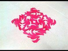 Chinese KIRIGAMI paper cutting tutorials - 4