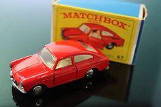 Vintage No 67 Matchbox Volkswagen Red VW Car All Original Box 1967 Vw Vintage, Vintage Hot Wheels, Vintage Toys, Vw Cars, Pedal Cars, Cars Series, Matchbox Cars, Hot Wheels Cars, Toy Trucks